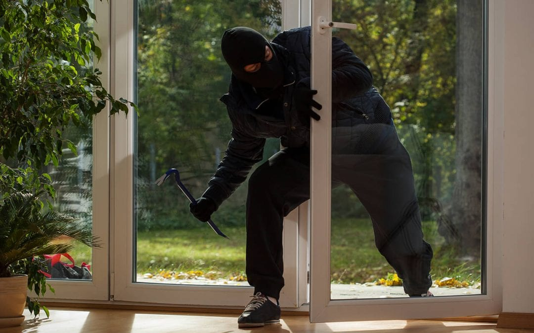 improve home security by installing security bars in sliding doors